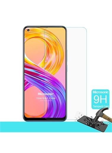 Microsonic Realme 8 Tempered Glass Cam Ekran Koruyucu Renksiz